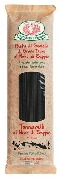 Tonnarelli al nero di seppia - Spaghetti mit Tintenfischtinte