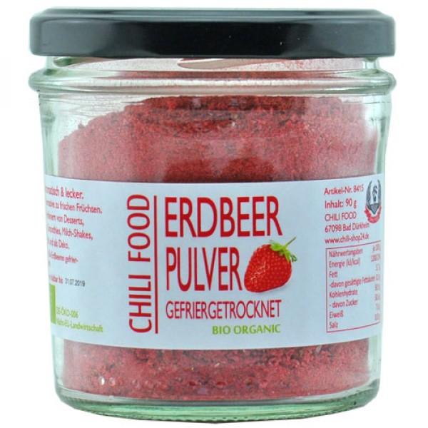 Bio Erdbeerpulver gefriergetrocknet Rohkost