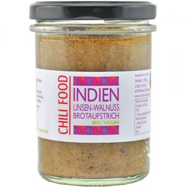 Brotaufstrich INDIEN Linsen-Walnuss vegan