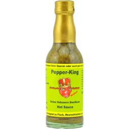 Pepper King grüne Habanero Soße mit Basilikum
