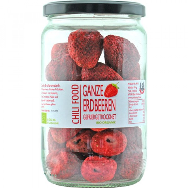 Bio Erdbeeren ganz gefriergetrocknet