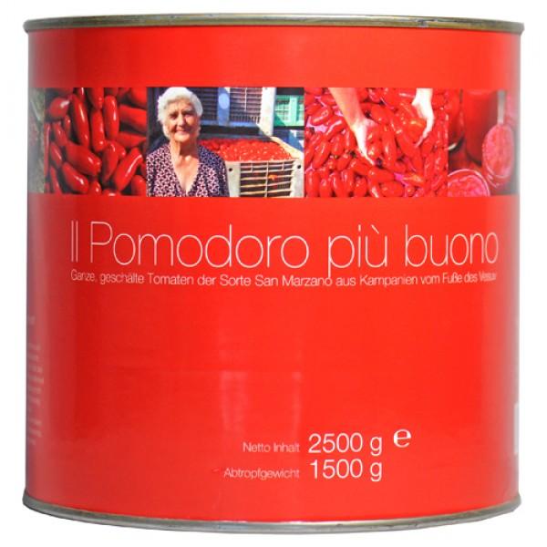 Ganze, geschälte San Marzano Tomaten