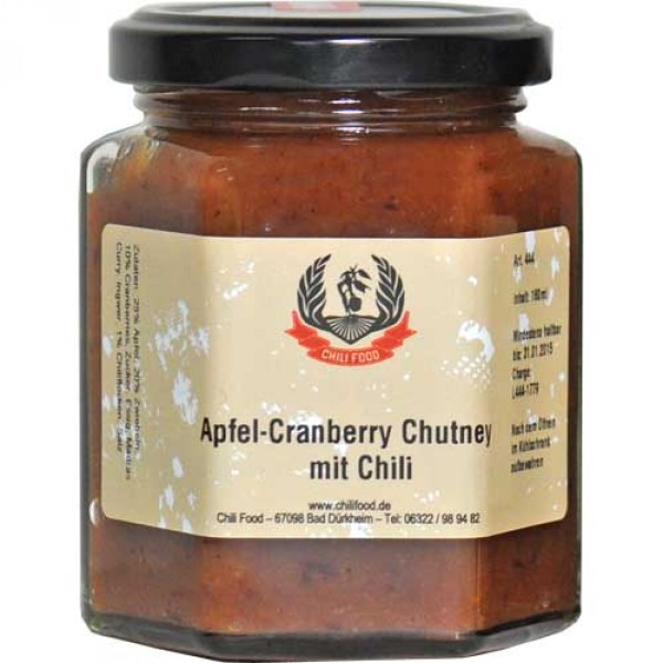 apfel cranberry chutney mit chili chili. Black Bedroom Furniture Sets. Home Design Ideas