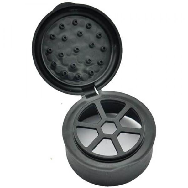 Flapp-Deckel schwarz für Glasgewürzstreuer