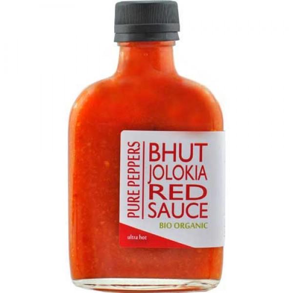 Bhut Jolokia Red Sauce -BIO- B-Ware