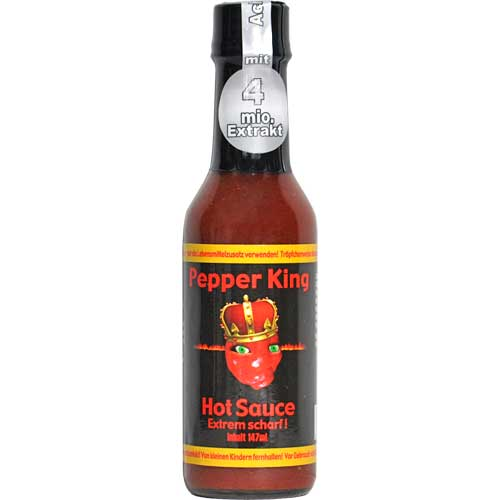 pepper king hot sauce extra scharf chili chili food. Black Bedroom Furniture Sets. Home Design Ideas
