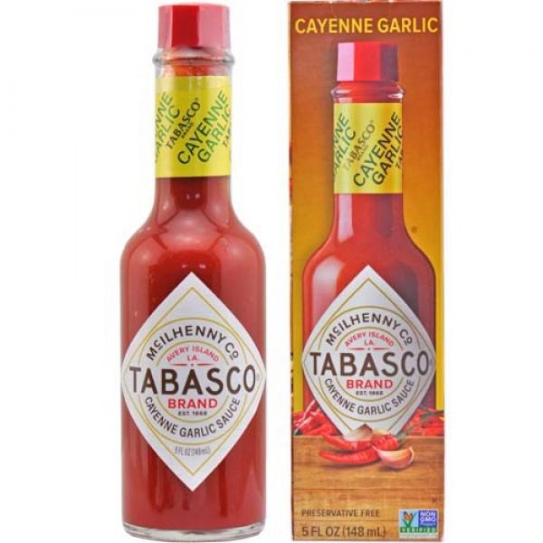 Tabasco Cayenne Garlic Pepper Sauce 148ml
