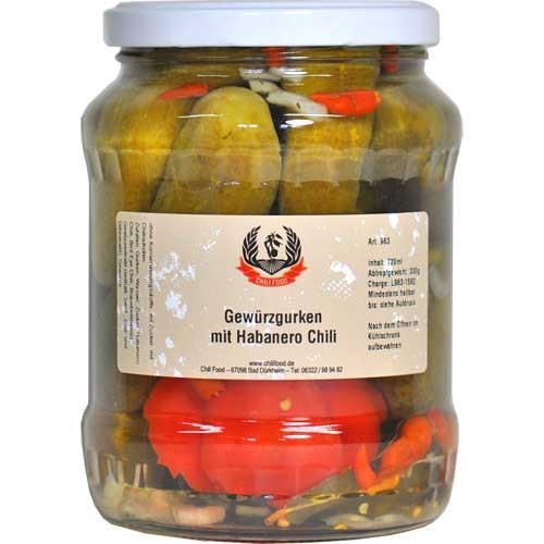 Gewürzgurken mit Habanero Red