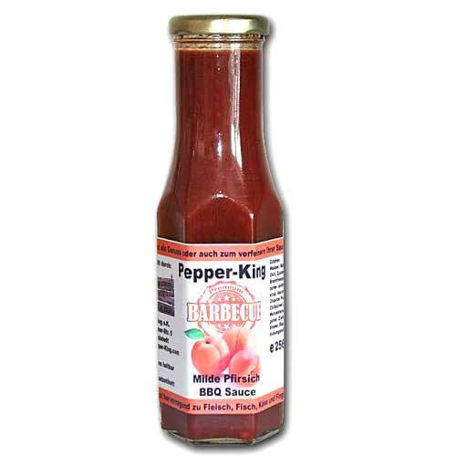 Pepper King Milde Pfirsich BBQ Sauce