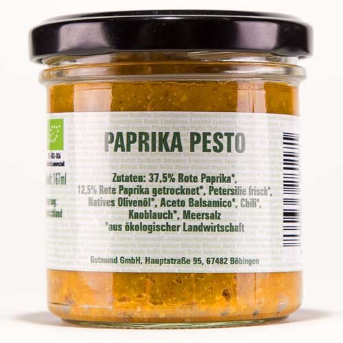 Paprika Pesto -BIO-